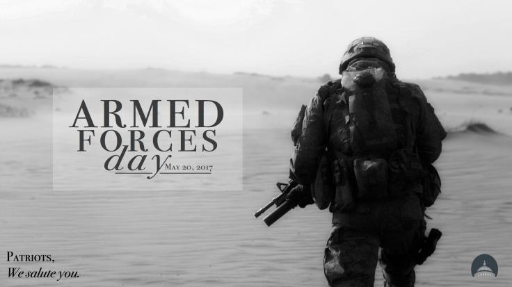 Armed Forces Day w: logo